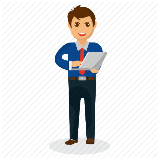 royalty free stock Businessman clipart successful job. Mascot by prosymbols business.