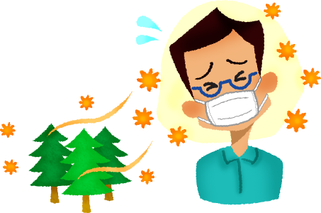 jpg library Man with hay fever. Businessman clipart worried.