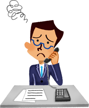 svg stock Annoyed talking on the. Businessman clipart worried.