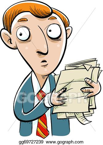 picture download Businessman clipart worried. Eps vector stock illustration.