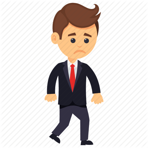 clip free Businessman clipart worried.  business characters by.