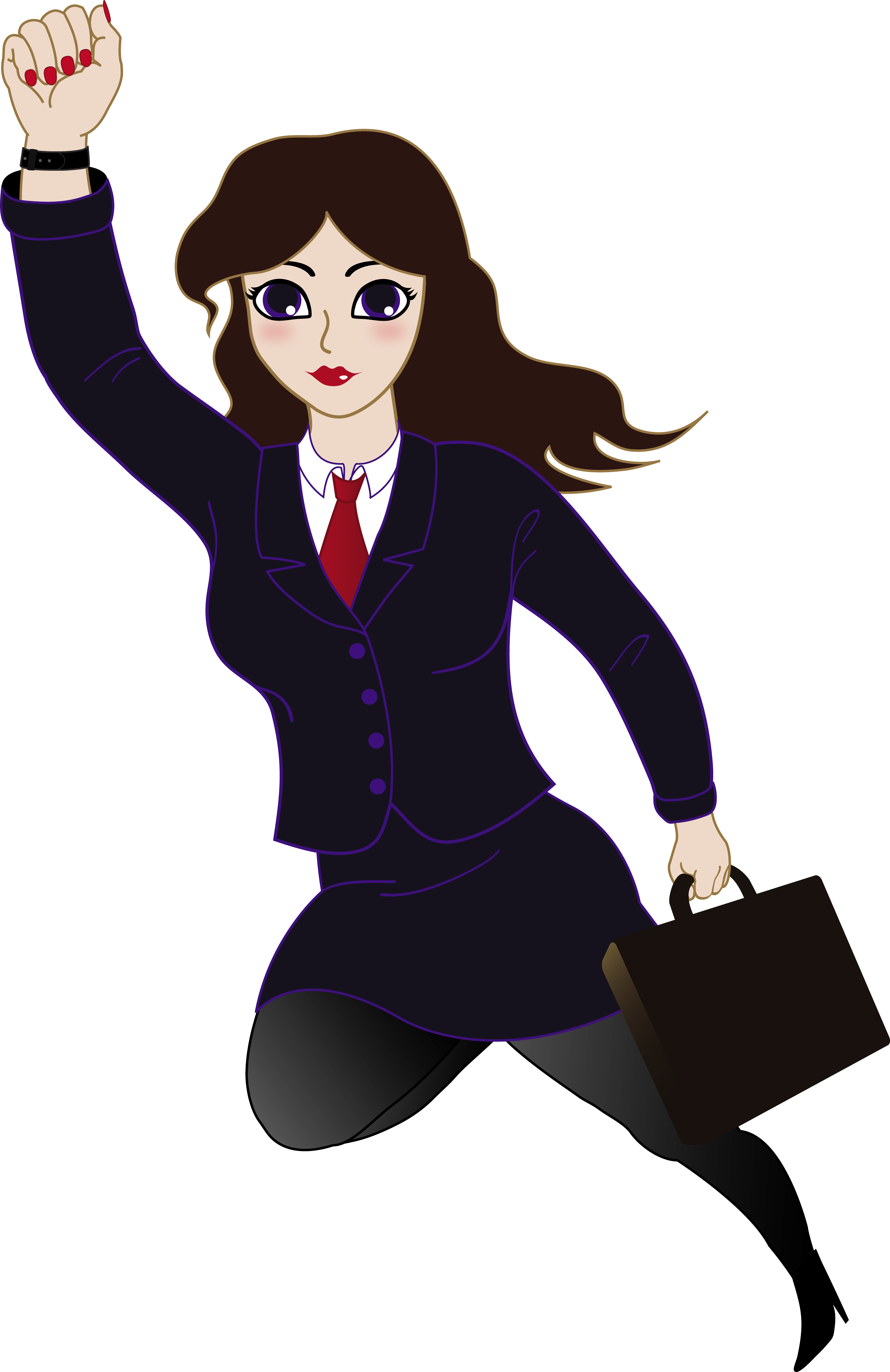clipart royalty free Super Businesswoman Clipart