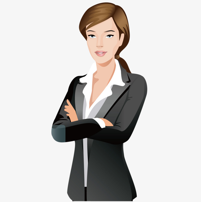 stock Female office worker . Businesswoman clipart