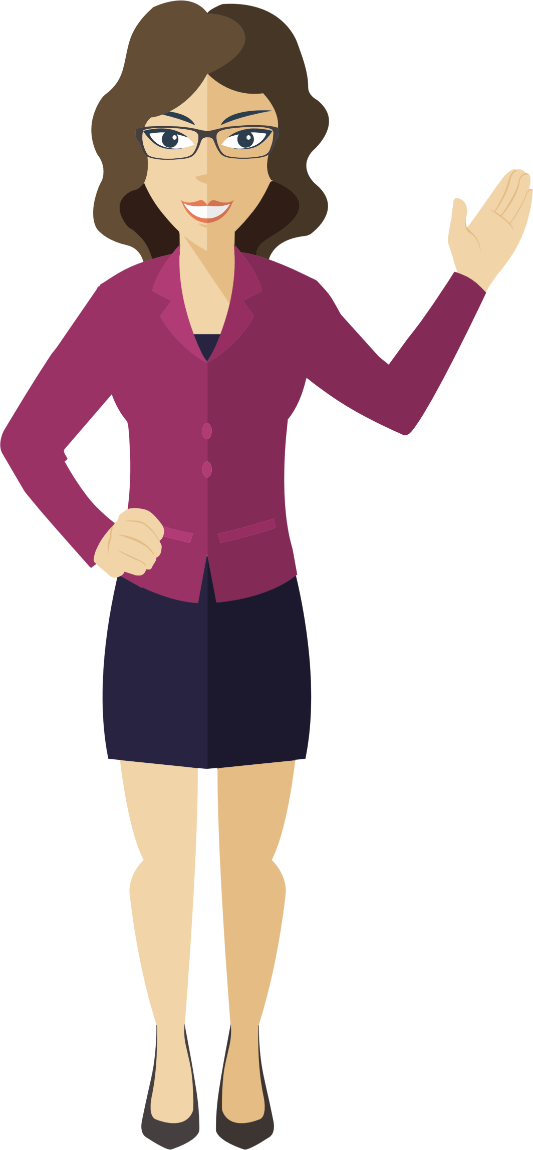 picture free stock Lady clipart. Flat shaded business woman.