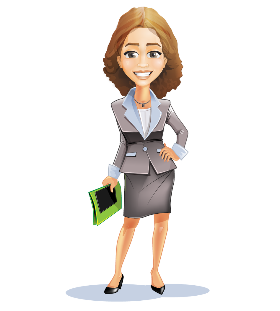 banner library stock Businesswoman clipart. Businessperson cartoon clip art