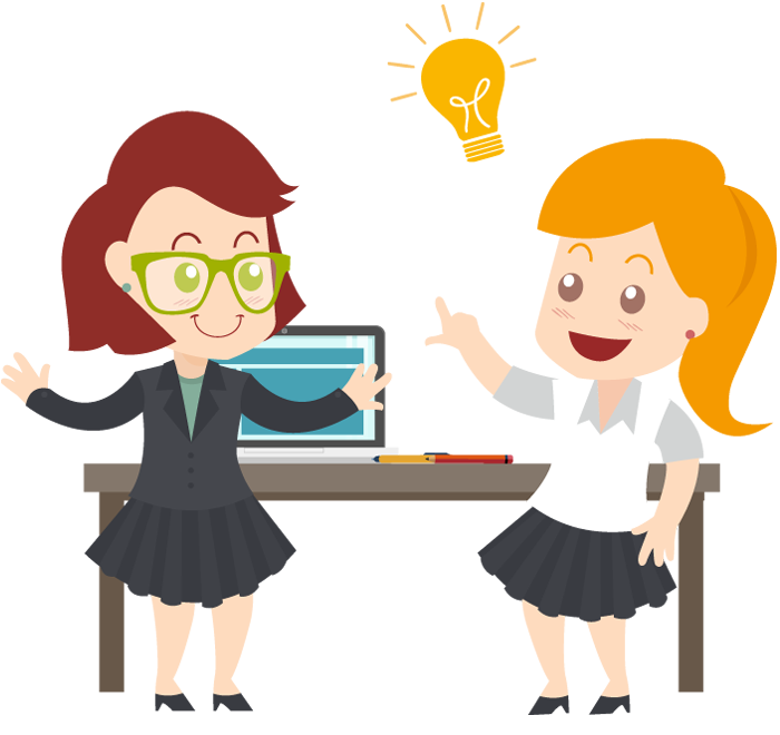clipart free Two business with idea. Businesswoman clipart bussiness woman.