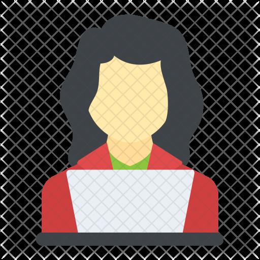 clipart transparent stock Businesswoman clipart woman entrepreneur. Technologist icon avatar smileys.