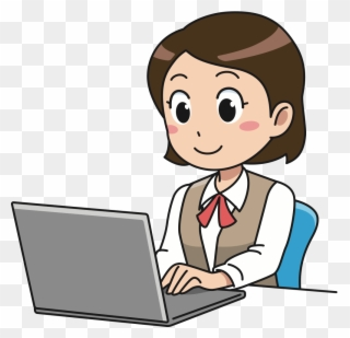 clipart transparent library Business woman girl with. Businesswoman clipart working lady.