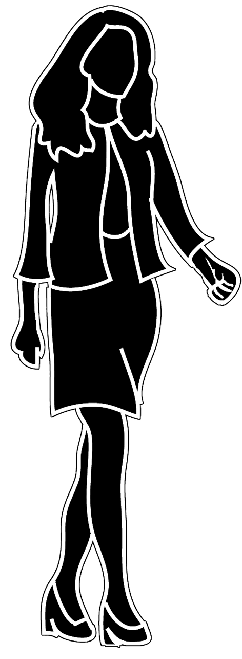png library stock Businesswoman clipart working lady. Female silhouette business woman.