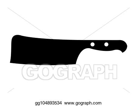 clip art library library Silhouette stock illustration . Butcher knife clipart