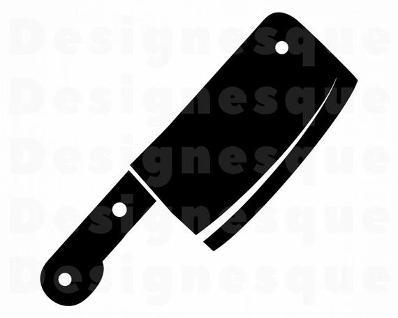 clipart freeuse library Cleaver svg files for. Butcher knife clipart
