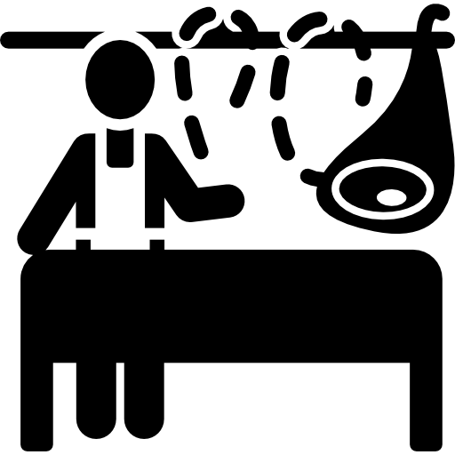 clip royalty free download Drawing store butcher shop. Free food icons icon