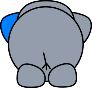 banner download Elephant clip art at. Butt clipart
