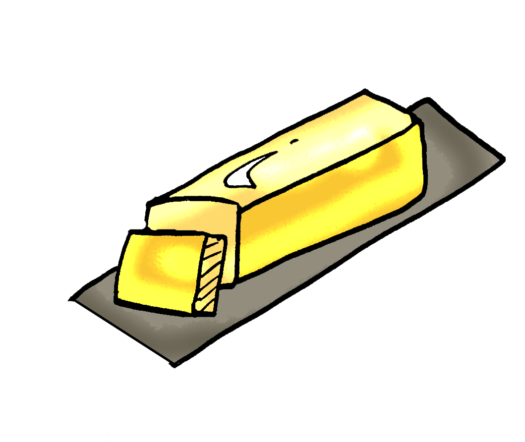 clip transparent Png transparent free on. Butter clipart sketch.