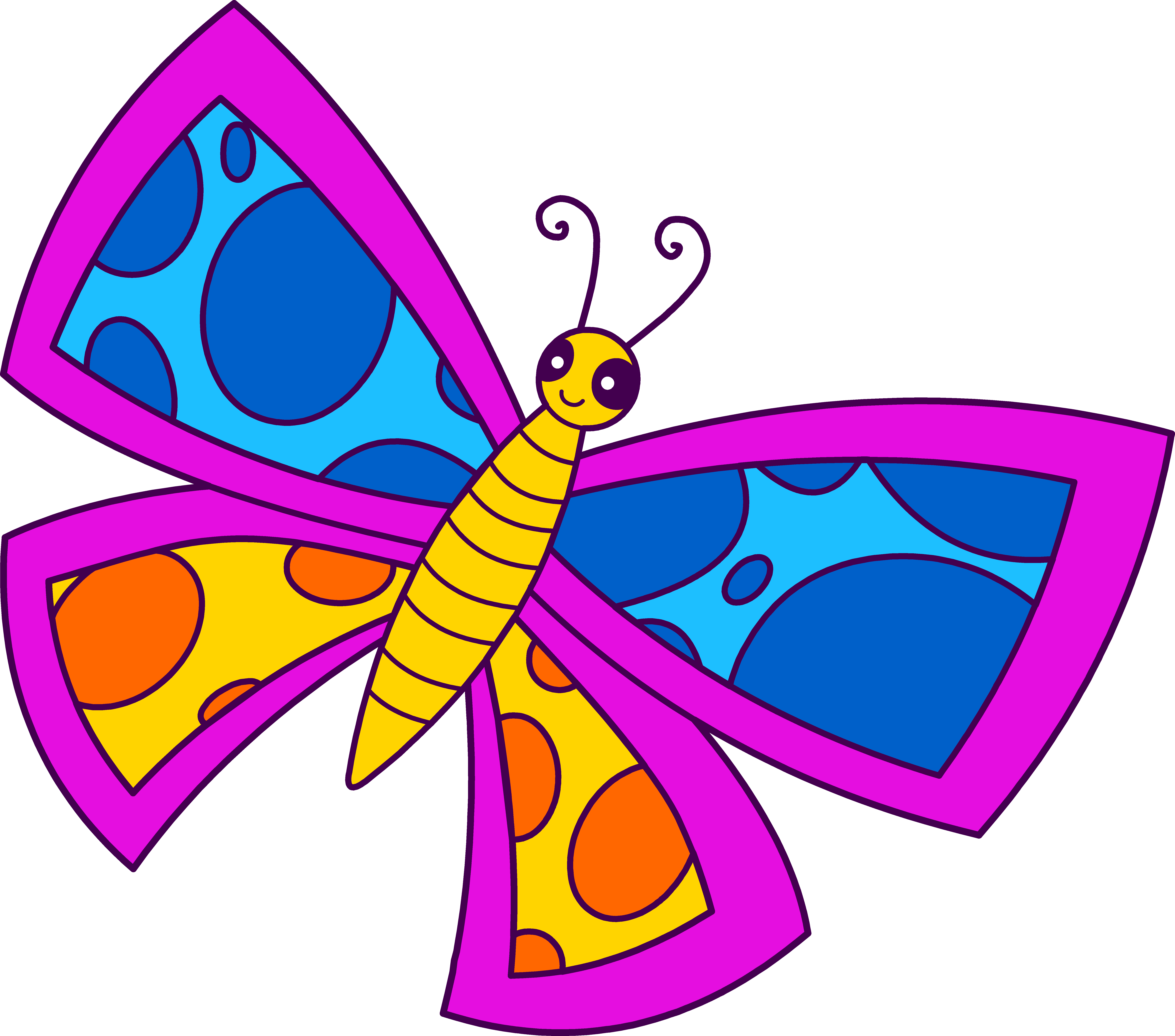 clip art freeuse download Cute butterfly panda free. Butterflies clipart