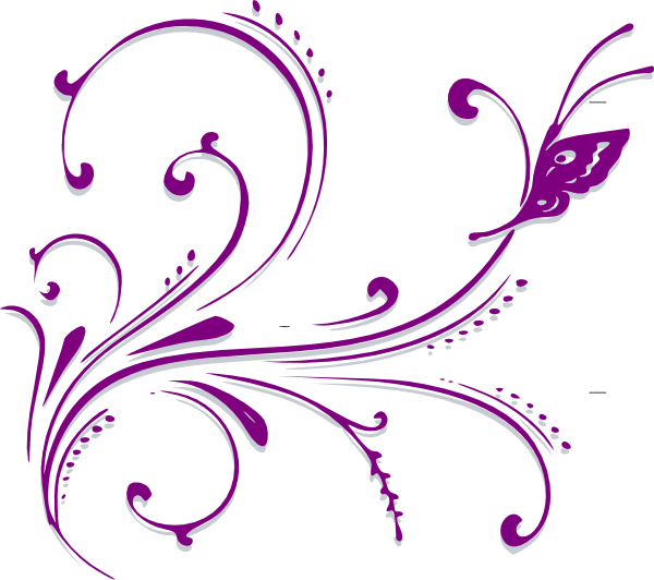 vector library stock Butterflies clipart border. Purple butterfly .