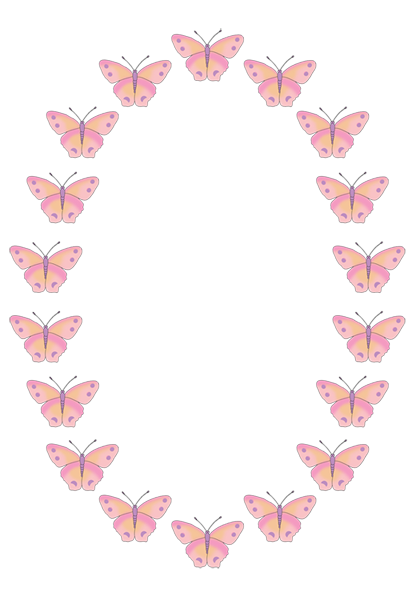 graphic black and white download Butterfly clip art free. Butterflies clipart border.