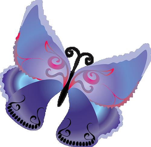 stock Purple butterfly gallery yopriceville. Butterflies clipart cartoon.