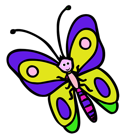 clip library stock Child clipart butterfly. Cartoon cute .