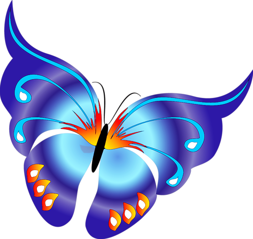 clip art royalty free library Blue butterfly gallery yopriceville. Butterflies clipart cartoon.
