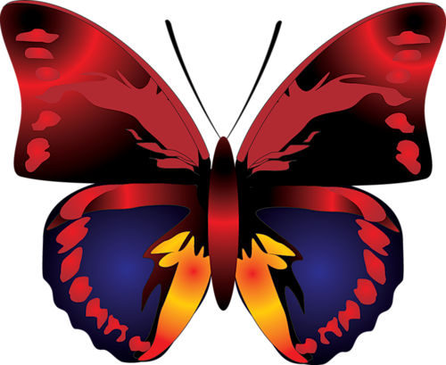 picture transparent stock Butterflies clipart cartoon. Red butterfly gallery yopriceville.