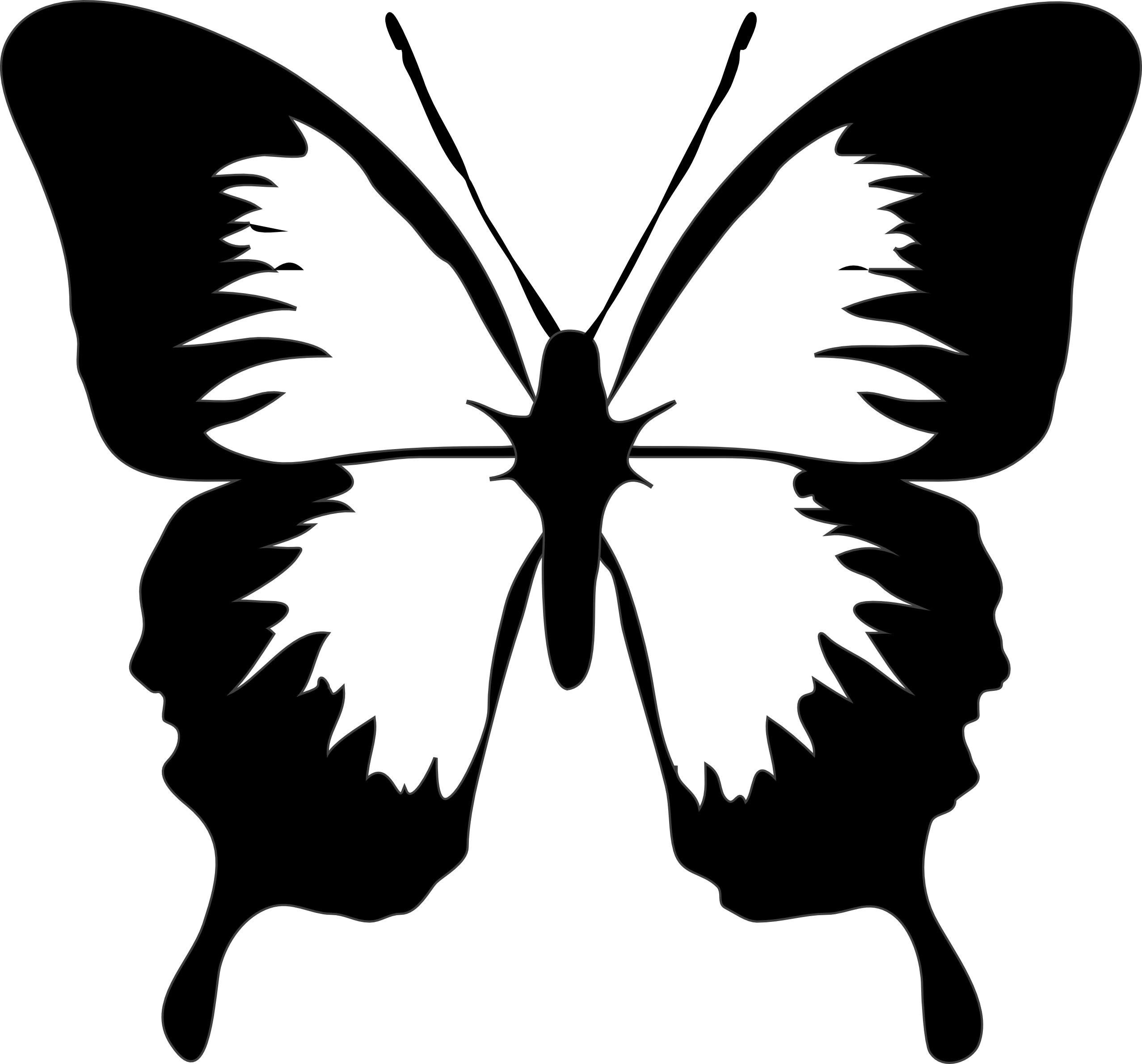 jpg transparent download Clip art black and. Circle clipart butterfly.
