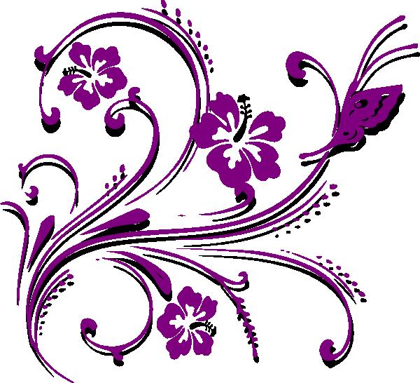 clip Invitation clipart programme. Purple butterfly border panda