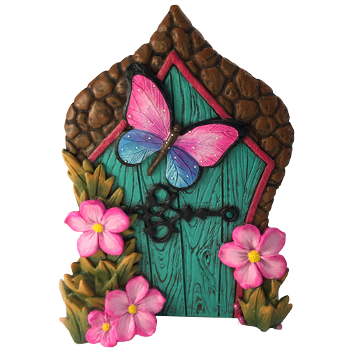 clip art Gnome clipart enchanted. Miniature butterfly fairy door