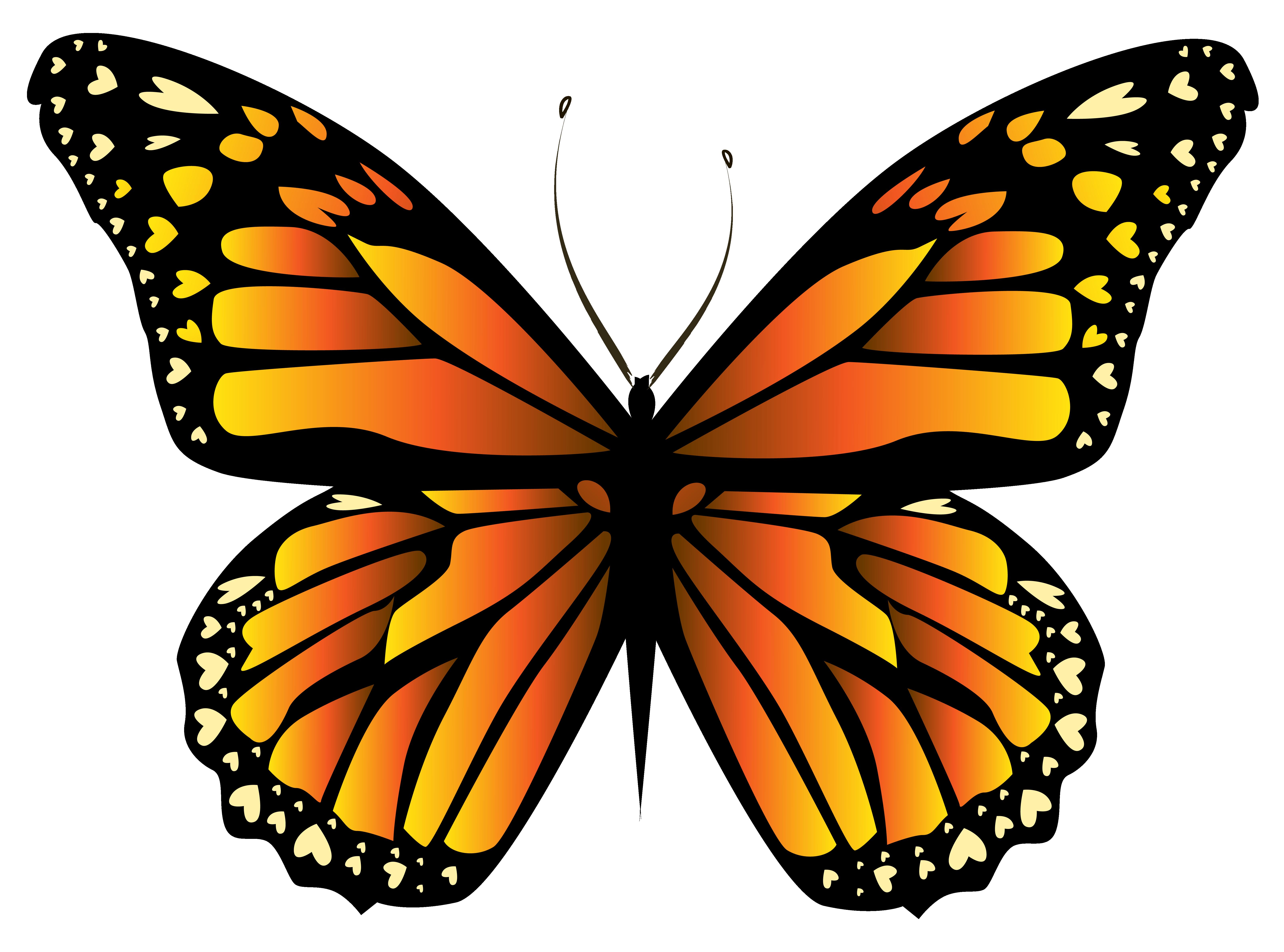 clip art transparent stock Butterfly clipart orange. Png clipar gallery yopriceville.