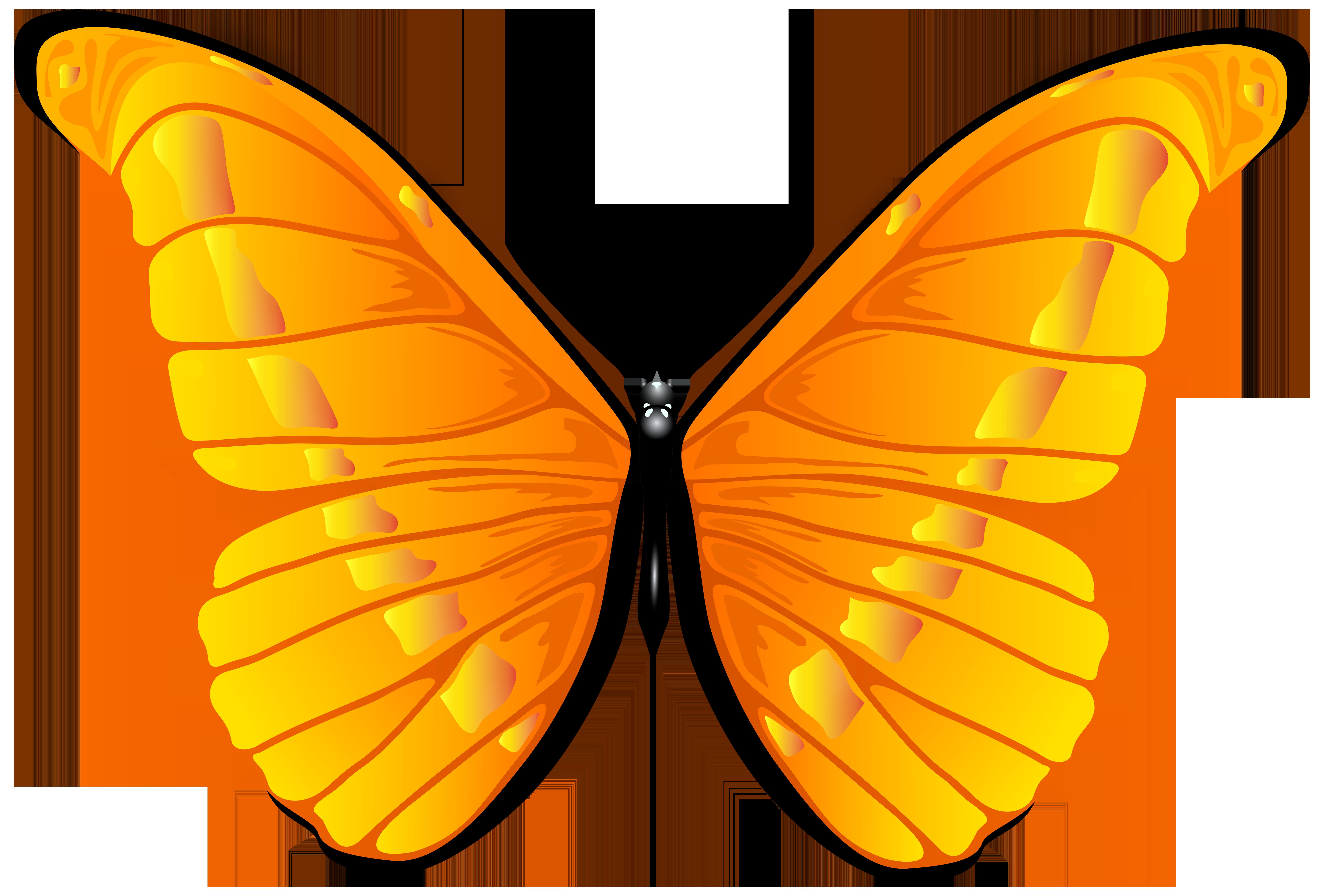vector freeuse stock Butterfly png clip art. Butterflies clipart orange.