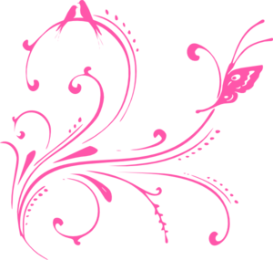 graphic library download Pink birds butterfly princess. Butterflies clipart swirl.