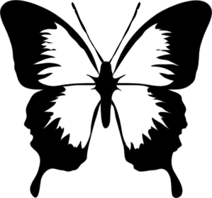 clip art black and white Black And White Butterfly Clip Art at Clker