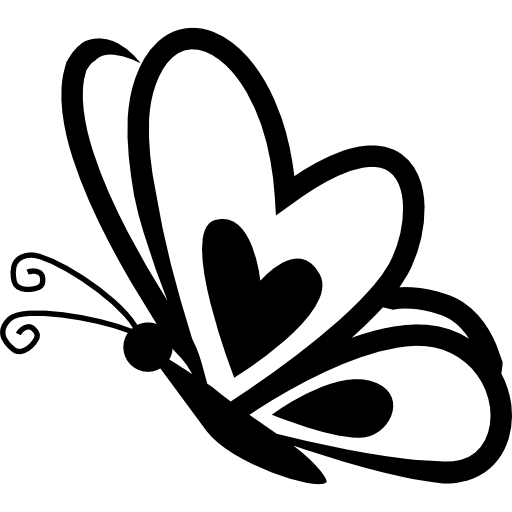 clip transparent download Butterfly with a heart on frontal wing on side view free vector