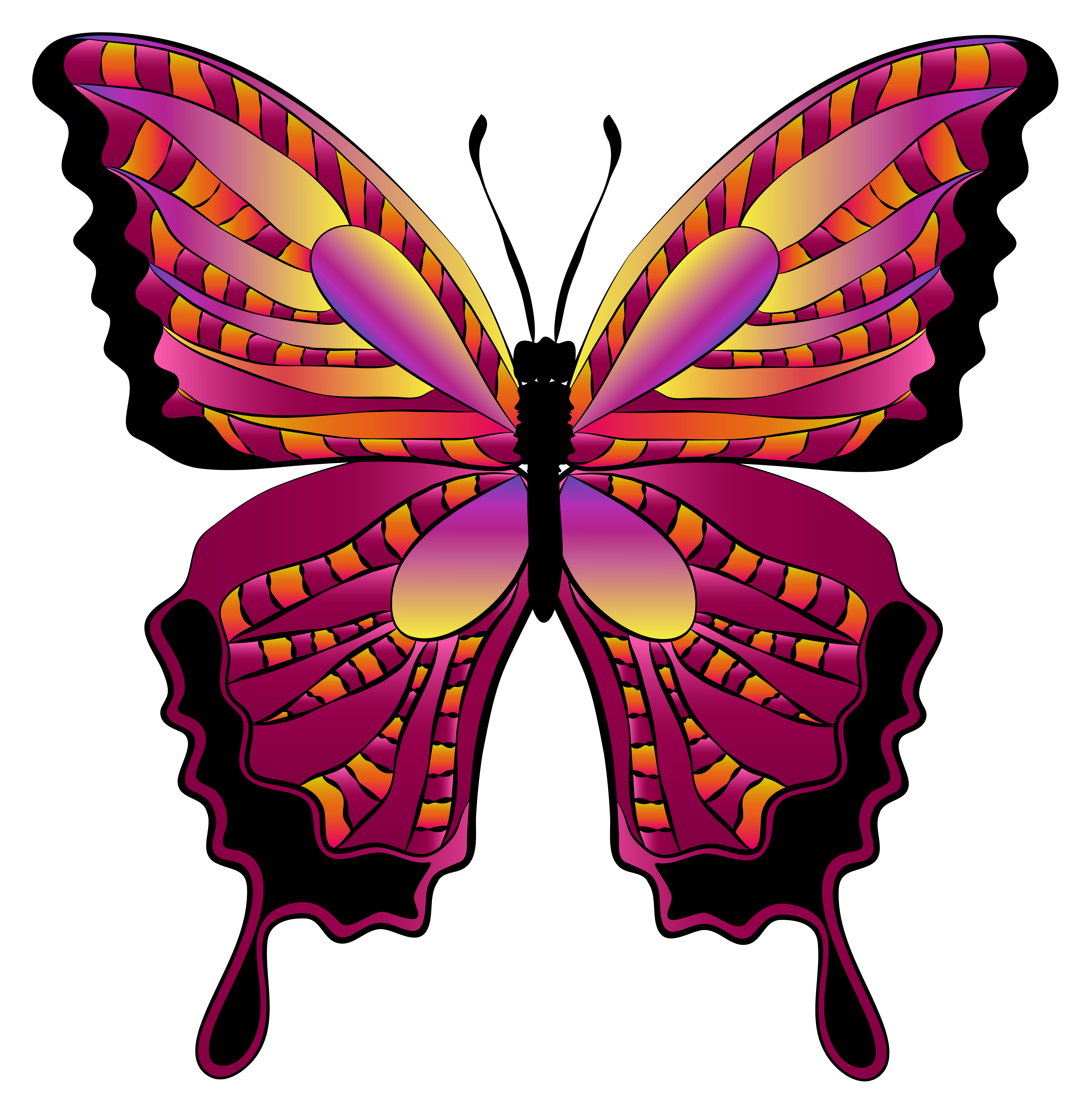 svg download Red image gallery yopriceville. Butterfly clipart.