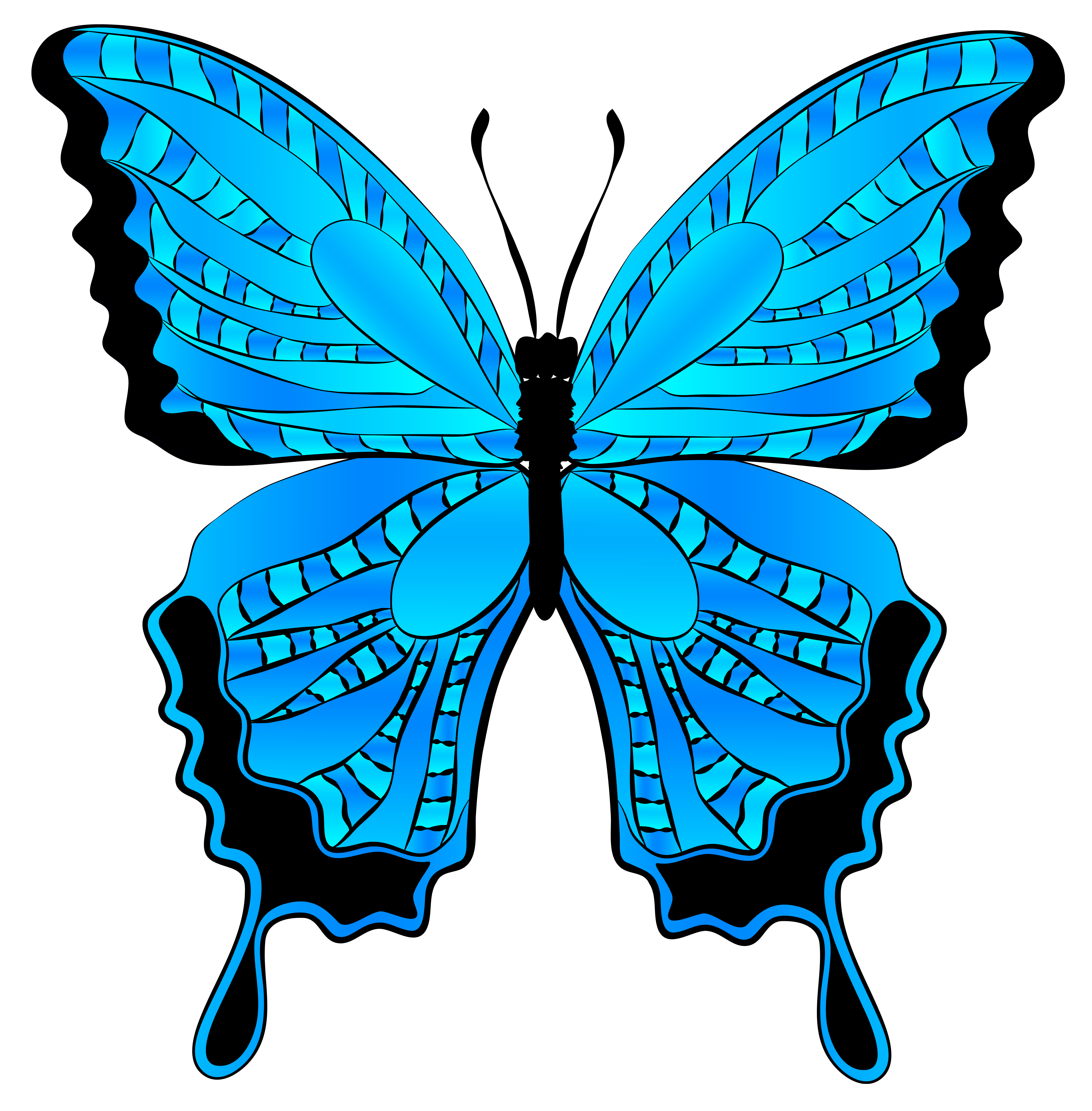 jpg transparent library Butterfly clipart. Blue image gallery yopriceville.