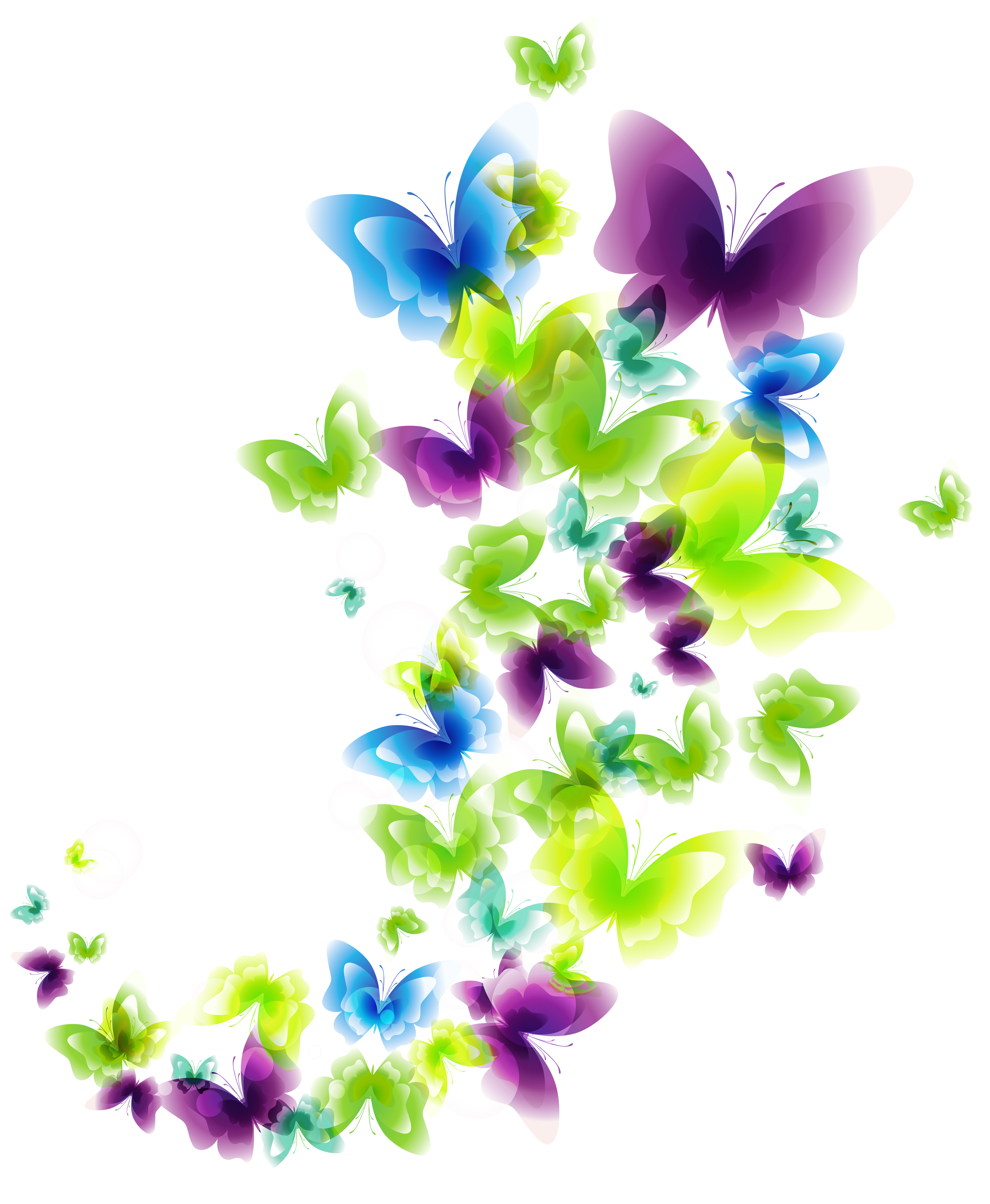 banner library download Deco butterflies png picture. Butterfly clipart bunch.