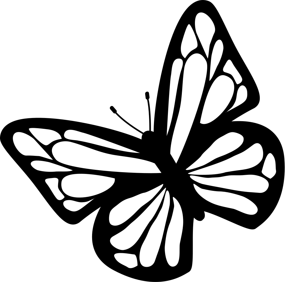 clip art library stock butterfly black Black and white butterfly clip art at vector clip