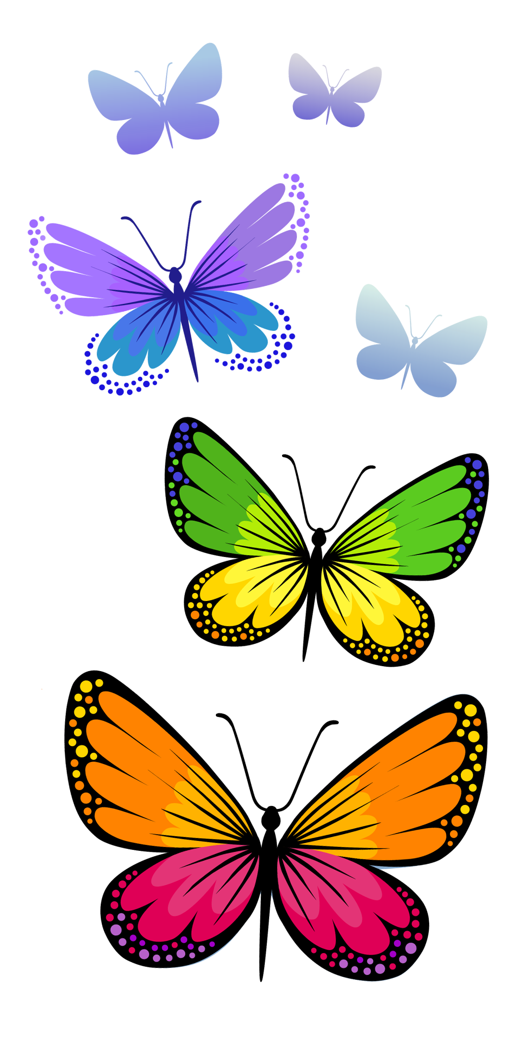 banner black and white download Circle clipart butterfly. Butterflies composition png image.