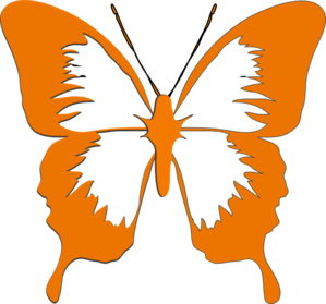 clip library stock Butterfly clipart orange. Clip art at clker.