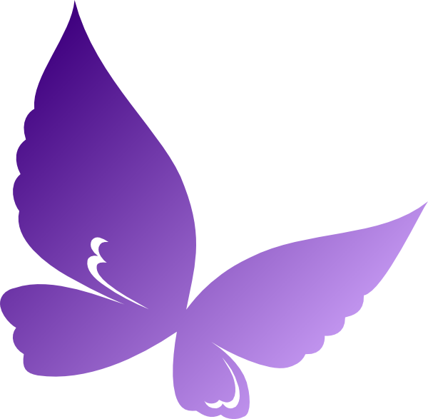 image library stock Gradient Purple Butterfly Clip Art at Clker