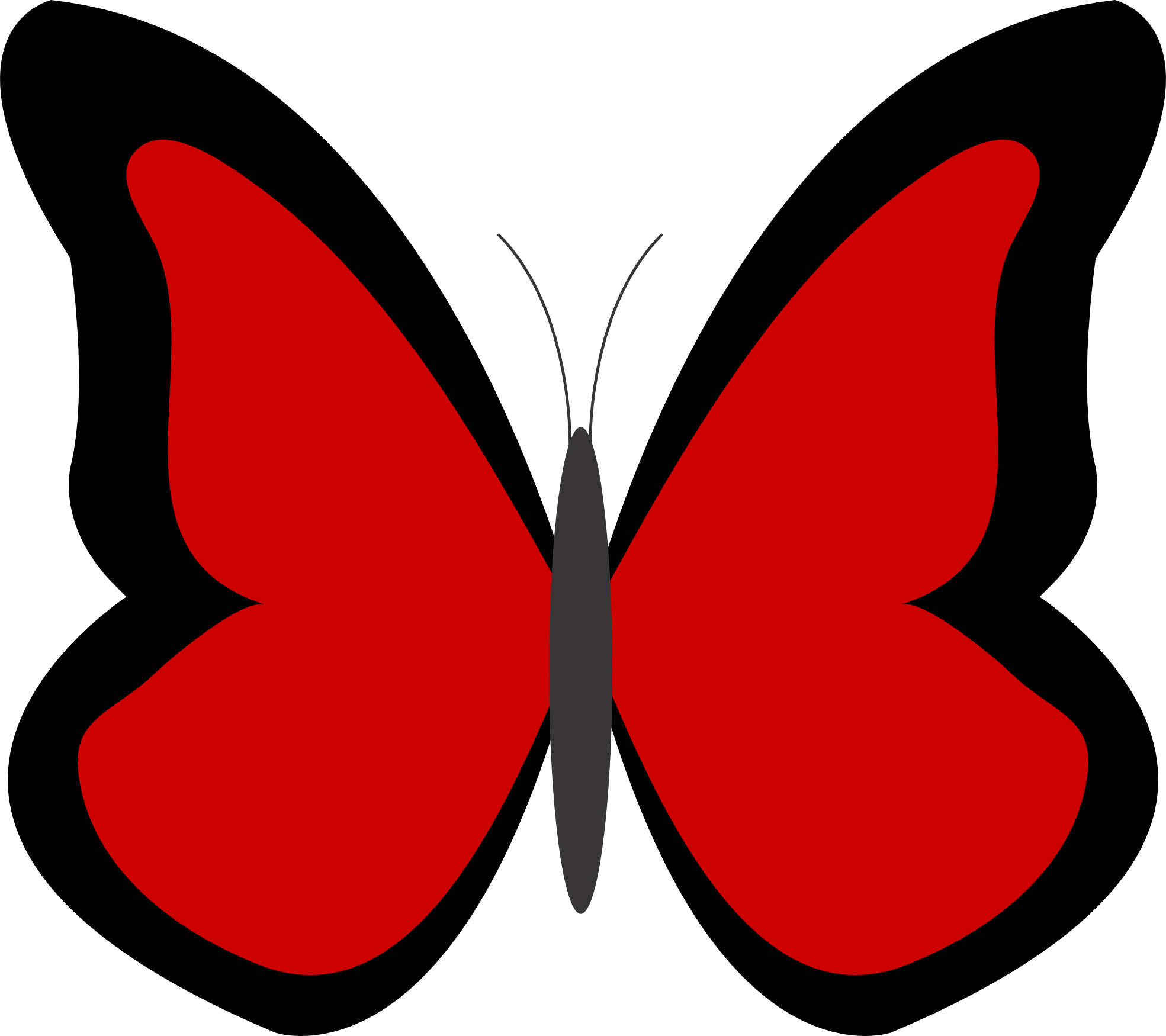 clip free library Butterfly clipart red. .