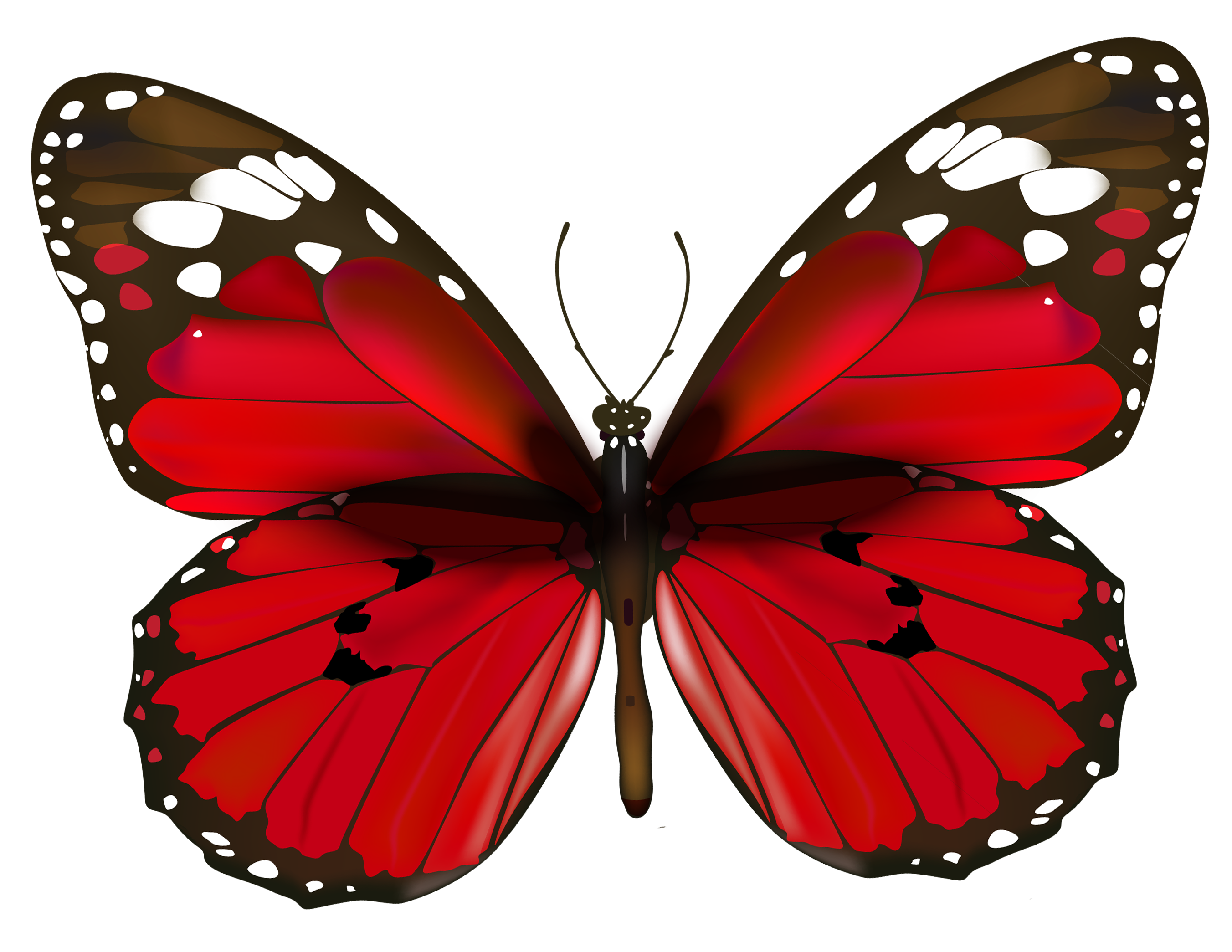clip art library download Clip jam gold butterfly. Red png clipart gallery