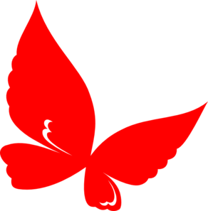 image royalty free download Clip art at clker. Butterfly clipart red.