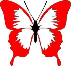 svg freeuse download Clip art at clker. Butterfly clipart red.