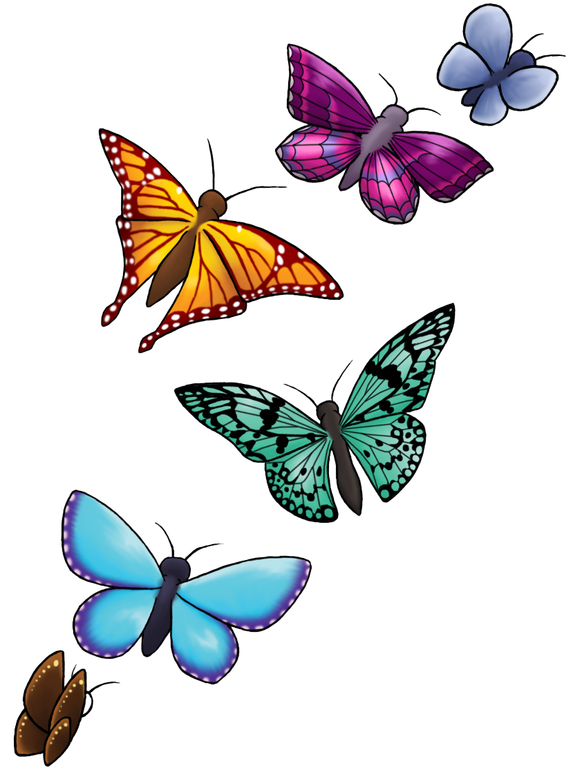 jpg freeuse Butterfly clipart translucent. Tattoo designs png transparent.