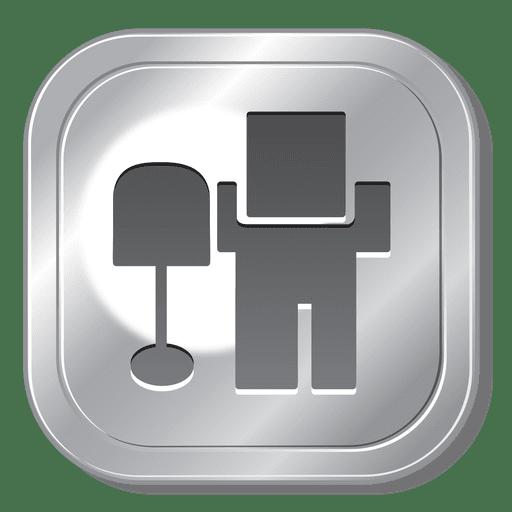 png transparent button clip black metal #91119701