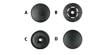 image black and white stock Plastic Snap Fastener