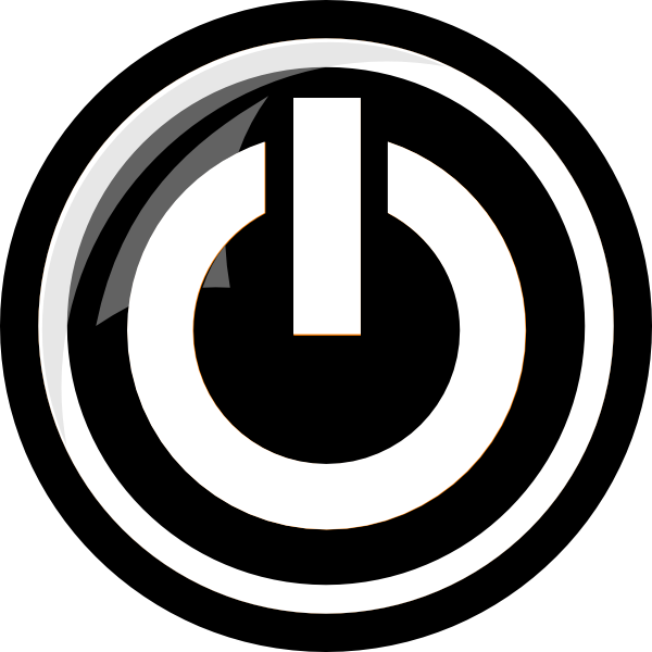 free Vector button power. White clip art at