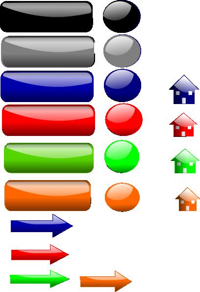 vector black and white stock Color collection clip art. Button clipart colored button.