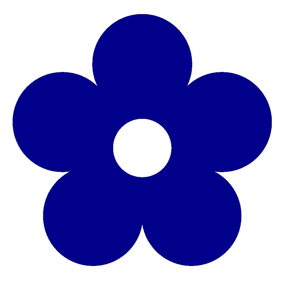 black and white stock Button clipart colour blue. Retro flower color dark.